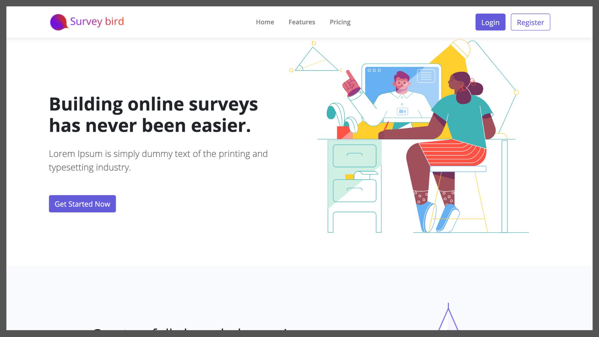 Survey Bird - Online Survey Builder (SaaS) - 1
